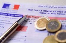 Photo d'une déclaration de taxe sur la valeur ajoutée